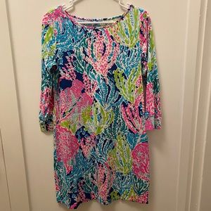 Lilly Pulitzer Dress in Multicolored Coral Print